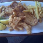 Hake, Calamari and Chips