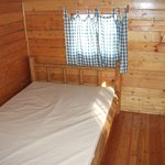 Back bedroom with double bed.