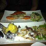 Fresh Crab! Fresh squid! Baked potato!
