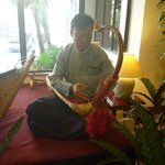 Musical instrument played for guests enjoyment