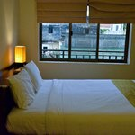 Double room looking out to balcony area-