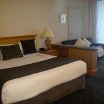 king bed, ocean view, spa room