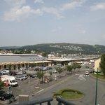 Railway station view from hotel balcony