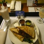 Room service quesadillas