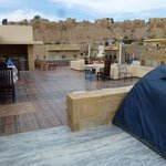 View of Jaisalmer Fort from the rooftop chill-out area