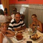 Almorzando en Alta Gracia