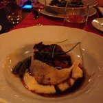 Beef Bourgignon with parmesan crust