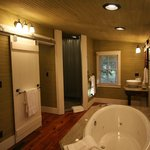 Inside bathroom of one of theCabins