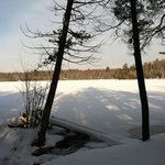 Ellis Lake frozen over