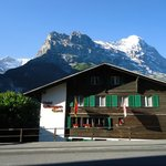 Hotel north side with Eiger
