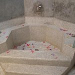 Romantic Rose Petals in the Perfectly Designed Bathroom