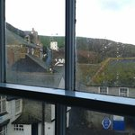 View of hill up to Doc Martin's house