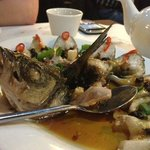 Crispy fried sea bass with sweet and sour sauce