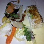 Filet de barbue en cuisson douce, jus brun de homard,