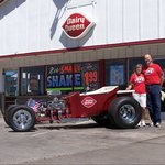 Owners Chris and Terri Holladay with their DQ parade car