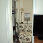 Suite, sitting-dressing area between room and bathroom
