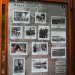 cartel descriptivo del pequeño Museo del Leñador