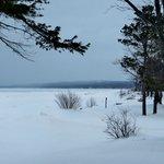Partially frozen Lake Superior