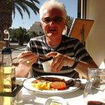 Eating at the Neptuno Restaurant