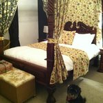 The four poster room with our little puppy :)
