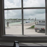 Government dock on Guana Cay from Barbi's Cafe