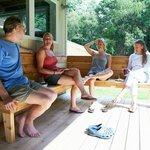 Summer breakfast on the deck