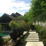 Walking thru our villa entry door, you walk atop a koi pond.