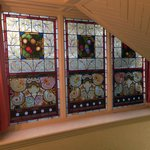 Just one of the many sets of stained glass windows that gives this place such an historical ambi