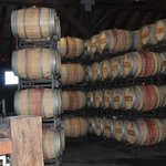 barrels in the cellar area