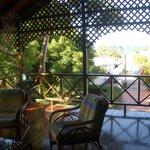 apartment's private terrace