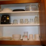 Kitchenette cupboard, Candlewood Suites, Santa Maria California