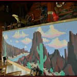 Mexican Desert Mural by Local Artist