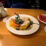 polenta en salsa de mandarina