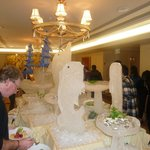 Ice Sculptures at the Party