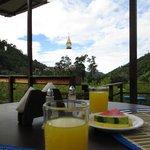 outside deck for breakfast