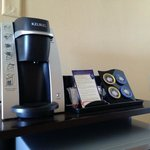 we have keurig at home so this was awesome to have here