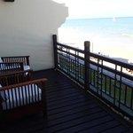 junior deluxe beachfront villa (room 318). front deck