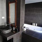 bathroom in junior deluxe beachfront villa (room 318)