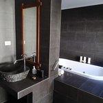 bathroom in junior deluxe beachfront villa (room 318)