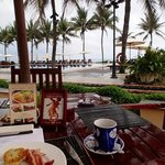 view from breakfast in l'annam restaurant (American style buffet)