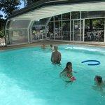 piscine agréablement chauffée, que du plaisir!