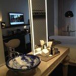 Sink & vanity area in bedroom