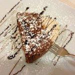 Semi freddo chocolate, pan de spagna and nocciola desert.