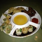 delicious appetizer sampler....