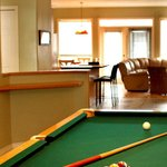 Many of our townhomes feature billiards rooms. Great for socializing!