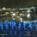 Jubilee gardens at night.