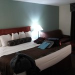 Nice bed, King size and very nice and firm! Basic room with sofa.