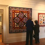 """Visitors admiring """"Butterfly Garden"""" of the current exhibits """"Doodles, Diamonds & Other Dramatic"""