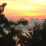 Sunrise from the top villa