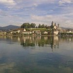 The approach to stunning medieval Rapperswil